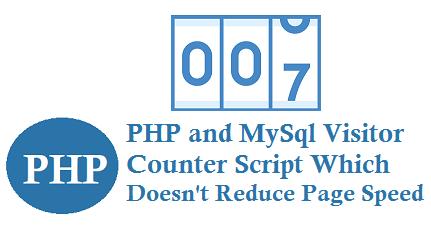 PHP Mysql Visitor Counter Script